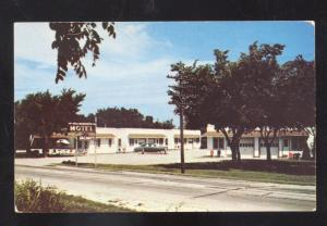 LEXINGTON NEBRASKA HOLLINGSWORTH MOTEL VINTAGE ROADSIDE POSTCARD