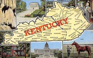 Maps Kentucky USA 1952
