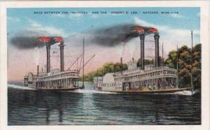 Steamers Race Between The Natchez & The Robert E Lee Natchez Mississipppi