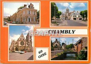 Postcard Modern Chambly Oise The Mayor Place Charles de Gaulle L Eglise