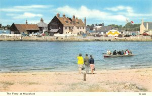 Vintage Dorset Postcard, The Ferry at Mudeford FN0