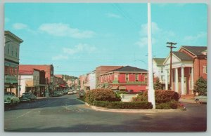 Milford Delaware~Walnut Street Looking North~Trading Center~Vintage Postcard