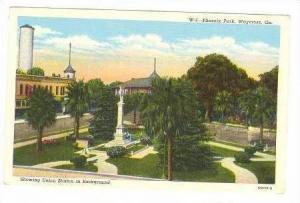 Showing Union Station in Background, Phoenix Park, Waycross, Georgia, 1930-1940s