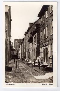 Vintage Elfreths Alley Philadelphia PA K. F. Lutz 1939