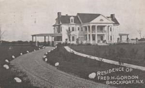 Residence of Fred H. Gordon - Brockport NY, New York - pm 1909 - DB