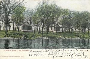 Lake Kegonsa Wisconsin~Bungalow Cabins @ Colladay Park~1908 Postcard