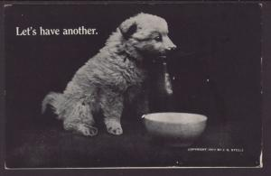 Let's Have Another,Dog Postcard