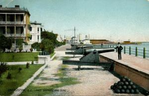 SC - Charleston. East Battery and guns