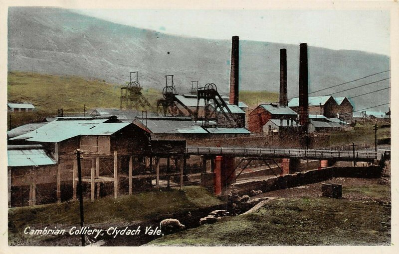 Vintage Postcard, Cambrian Colliery, Clydach Vale, Coal Mine Mining, Pit BD6