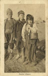 albania, Gipsies Gypsy Romani, Young Children (1918) Postcard
