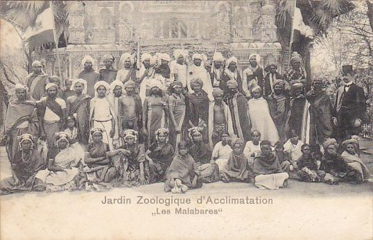 Native Group With Hagenbeck Jardin Zoologique d'Acclimation Les Malabares Hag...