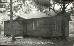 Pine River MN Evergreen Lodge Woman Lake Real Photo Postcard