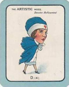 Carreras Vintage Large Carreras Cigarette Card Nose Game No D4 The Artistic N...