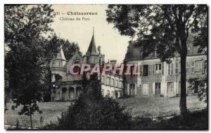 Old Postcard Chateauroux Chateau Park