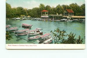 Postcard New York Boat House ILL Post Card Loeffler  Free Shipping # 2325A