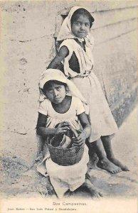 Dos Campesinas Peasant Girls Mexico 1907c postcard