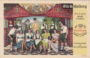 Florida Miami Old Heidelberg Restaurant Entertainers Curteich sk5951