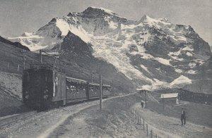 Wengernalpbahn - Blick auf Jungfrau , Switzerland , 00-10s ; Train