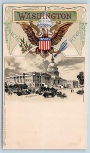 Washington DC PMC Tuck Heraldic The Capitol Embossed US Seal S19