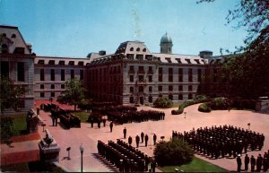 Maryland Annapolis Bancroft Hall Midshipmen In Formation U S Naval Academy 1962