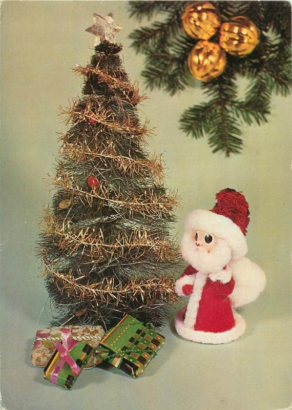 Christmas tree gifts Santa Claus Costume Puppet postcard Poland