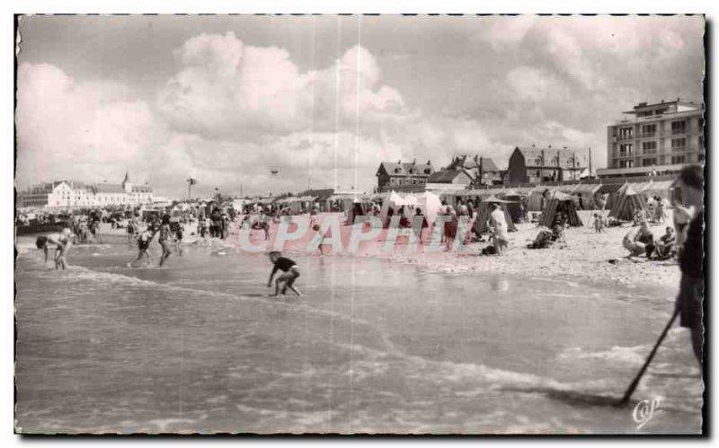 Old Postcard-BERCK BEACH - The beach at high tide