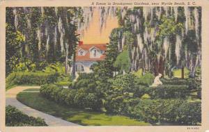 A Scene In Brookgreen Gardens, Near Myrtle Beach, South Carolina, PU-1938