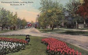New York Rochester Portsmouth Terrace Looking North 1912