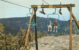 HOLIDAY HILL SKI LIFTS Wrightwood, CA San Bernardino Co. c1950s Vintage Postcard