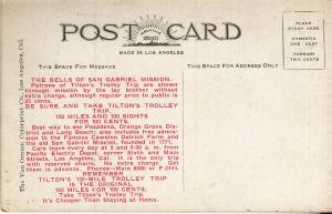 Tilton's Trolley Tripps - Los Angeles Post Card with Ad