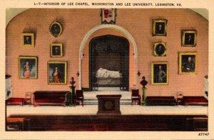 Virginia Lexington Interior Of Lee Chapel Washington and Lee University