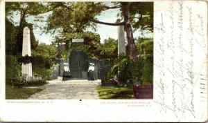 Washington D.C. Tomb George Martha Washington 1906 Antique Postcard Undivided