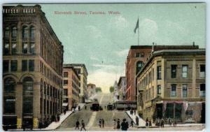 TACOMA, Washington  WA   ELEVENTH STREET Scene  1909  Postcard