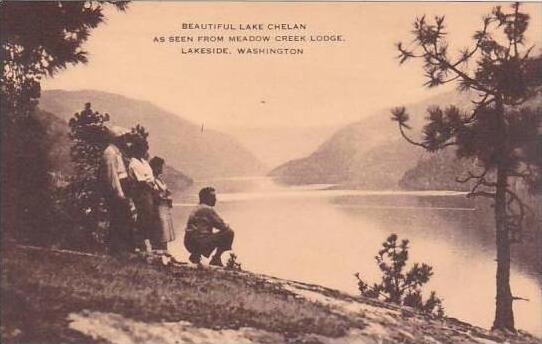 Washington Lakeside Beautiful Lake Chelan As Seen From Meadow Creek Lodge Artvue