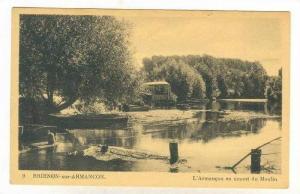 L'Armancon En Amont Du Moulin, Brienon-sur-Armancon (Yonne), France, 1900-1910s
