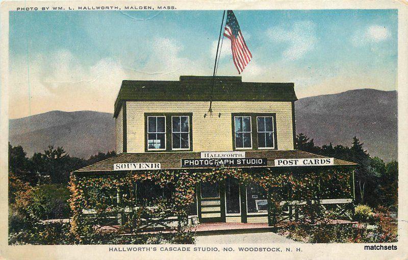 1920s Malden New Hampshire Hallworth Cascade Studio Colesworthy Flag 7527