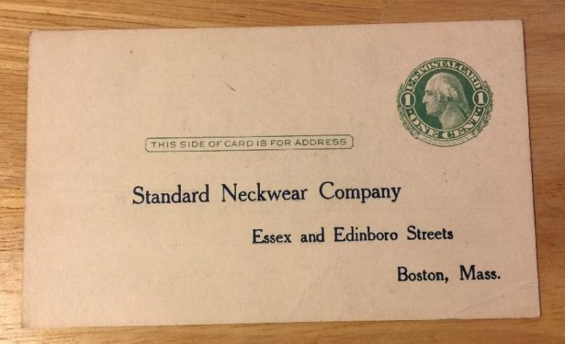 STANDARD NECKWEAR COMPANY, BOSTON MA vintage advertising