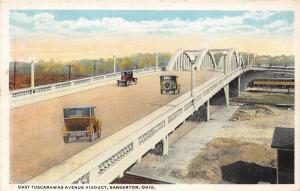 Barberton Ohio~East Tuscarawas Avenue Viaduct~Vintage Cars Cross~Train Below~'23