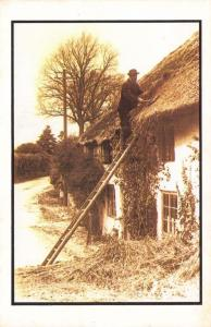 Postcard Nostalgia The Old Thatcher at PORLOCK Somerset Reproduction Card