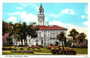 Massachusetts Worcester City Hall Curteich