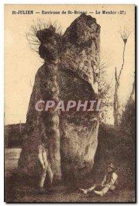 Old Postcard Dolmen Standing Stone St Julien Around St Brieuc menhir Folklore