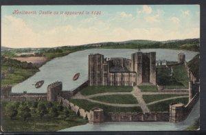 Warwickshire Postcard - Kenilworth Castle As It Appeared in 1620 -  DC2023