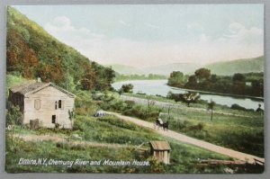 Chemung River And Mountain House, Elmira NY Postcard (#7244)