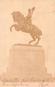 Somerset Ohio Sheridan Monumnet Vintage Postcard JA4742476