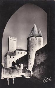 France Carcassonne L'Avant-Porte de l'Aude et la Tour de la Justice 1958 Photo