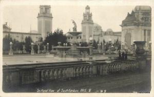 1915 SAN FRANCISCO CA Sectional View Gardens PPIE RPPC postcard 758