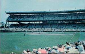 Wrigley Field Chicago IL Illinois Baseball Unused Vintage Cameo Postcard E24