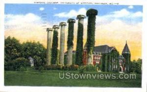 Historic Columns Columbia MO 1951