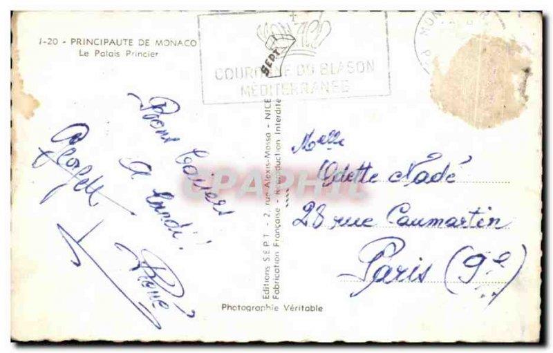 Old Postcard Principality Of Monaco Prince's Palace