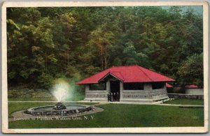Watkins Glen, New York Postcard Entrance to Pavilion Fountain c1910s Unused